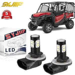 LED Headlight Bulbs for Honda UTVs Pioneer 500 700 2 Pack White CHUSYYRAY 6000k