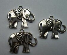 10 pcs Alloy metal Tibetan silver elephant charms pendant 21x25 mm