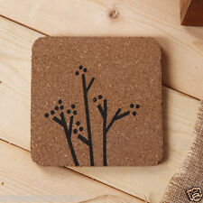 5-pack Wooden Wood MDF Coaster with Tree Motif, Set of 5