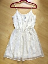 BNWT Gap White Summer Mini Dress Geometric M UK 12 14 Look Shop Beach Holiday