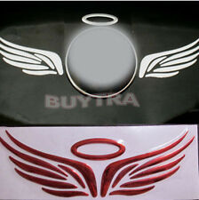 Excellent Fad Red 3D Angel Fairy Wings Car Logo Emblem Badge Decal Sticker CAWB