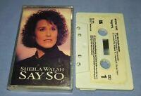 SHEILA WALSH SAY SO cassette tape album T8541