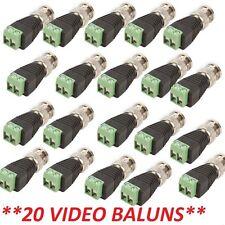Lot 20 Pcs. Coax CAT5 To Camera CCTV BNC Video Balun Connectors 3 Year Warranty
