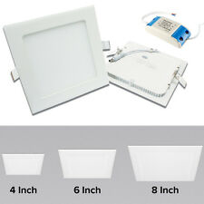 Impact Square Slim LED Downlights 4inch 6inch 8inch 6W 12W 18W with LED Driver