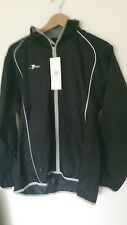 "Precision Training Mens Waterproof Running Rain Jacket size 38/40""Black / Silver"