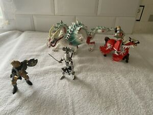 Knights And Dragon Figures