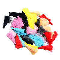 50X Mini Mixed color cotton tassel Handmade weave DIY jewelry accessories 15mm