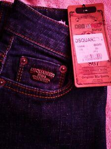 Dsquared2 Womens Jeans mod809 Rrp 499£ Size w26 eu36 slim fit uk4 brand new.