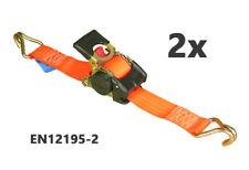 2x ZURRPACK® Automatik-Spanngurt 25mm x 1,8m 500kg/daN Automatischer Zurrgurt