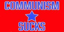 """6 Pack Communism Sucks Red 3.75""""x7.5"""" Vinyl Bumper Sticker Decal"""