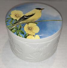 Hallmark Marjolein Bastin Gold Finch & Flower Trinket Box