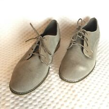 Dolce Vita Womens Oxfords Sz 10 Taupe Brown Suede Career Dress Lace Up Shoes