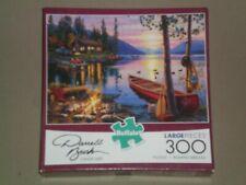 BUFFALO 300 Large Piece Jigsaw Puzzle - CANOE LAKE - COMPLETE