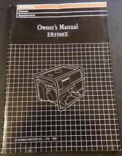 PRINTED 1991 HONDA GENERATOR EB3500X OWNERS MANUAL NEW (218)