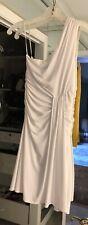 ABS By ALLEN SCHWARTZ COLLECTION ONE SHOULDER WHITE COKTAIL DRESS SIZE XS