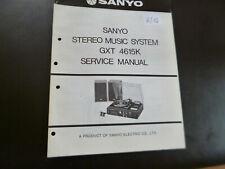 Original Service Manual Schaltplan Sanyo GXT 4615K