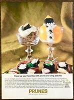 1963 California Prunes PRINT AD Calypso Salad Spice Cake Prune Whimsies