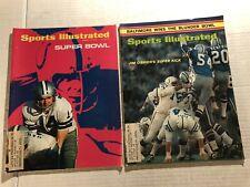 1971 Sports Illustrated DALLAS COWBOYS vs BALTIMORE Colts SUPER BOWL V Set of 2