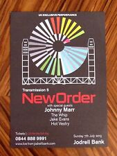 Rare New Order & Johnny Marr Live Transmission 5 Jodrell Bank 2013 Art Flyer