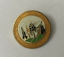 More details for clarice cliff collectors club ? trees and house enamel pin badge w reeves & co