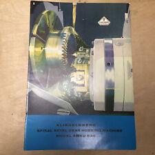 Vtg W Ferd Klingelnberg Sohne ~ Bevel Gear Hobbing Machine AMKU 630 Catalog