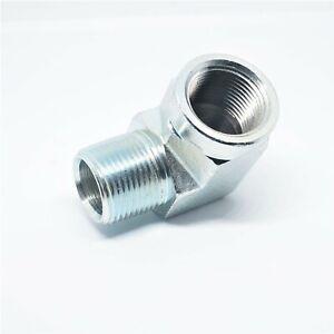 Steel Street Elbow Fitting 3/4 Female Npt x 3/4 Npt Male Water Oil Fuel Liquid