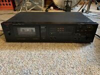 Luxman K-110 HX Pro Auto Reverse Stereo Cassette Deck, Tested And Works Fine