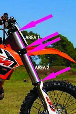 KTM SX SXF EXC-F 125 250 300 450 500 FULL SET FORK PROTECTION- Forkshrink 360