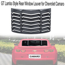 Matte Black Rear Window Louver Sun Shade Cover for Chevy Camaro 2016 2017 2018
