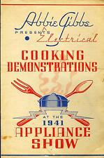 Program Pamphlets Abbie Gibbs Cooking Demo Appliance Show LCRA Kerrville TX 1941