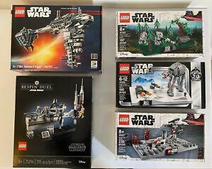 LEGO Star Wars Promo Lot- Bespin Duel 75294, Nebulon 77904, 40362, 40333, 40407