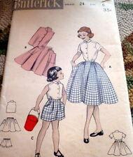 *LOVELY VTG 1950s GIRLS SKIRT, BLOUSE, & SHORTS Sewing Pattern 6