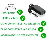 12V POWER SUPPLY ADAPTER FOR CASIO CDP-220 AD-A12150LW AD-A12150 110-240V CDP220