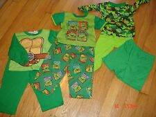 3 Pair Boys Turtle Pajamas, All Turtles, 2-2pc sets, 1-3pc set, 24 months and 2T