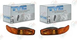 TYC Front LEFT + RIGHT Turn Signal Parking Light Assembly for 02-04 Jeep Liberty