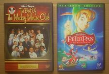 Walt Disney ~ Peter Pan and The Best of Mickey Mouse Club ~ DVDs