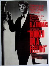 B.J. THOMAS 1968 Poster Ad HOOKED ON A FEELING