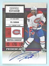 P. K. SUBBAN 2010/11 PLAYOFF CONTENDERS RC SEASON TICKET AUTOGRAPH AUTO
