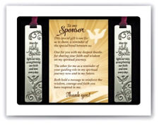 Cathedral Arts Confirmation Sponsor Bookmark Gift Set Gift Boxed w/Thank you