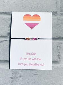 Lesbian Pride Bracelet,LGBT Bracelet,Couples Bracelet,Lesbian Jewellery,Lesbian