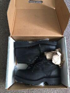 Wolverine Black Leather Steel Toe Waterproof Lace Up Work Boots 9 BNWB RRP £135