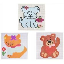 Cross Stitch Kit Colourful Assorted Designs Kids Learning Embroidery Stitch Art