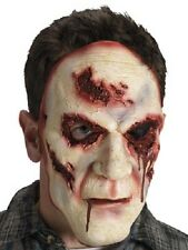 Men's Serial Killer Fancy Dress Mask Open Wounds Scary Man Halloween Stag Theme
