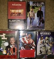 LOT OF 5 80s MOVIES Original motion picture soundtracks CASSETTE TAPES ROCKY IV