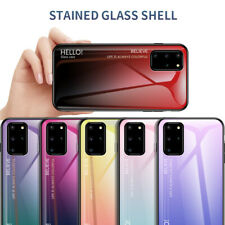 For Samaung Galaxy S20+ S20 Ultra Gradient Tempered Glass Hard Back Case Cover