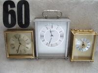 VINTAGE Seiko, Bulova,Germany mantel clocks trifecta, working, looking good+++