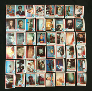 SUPERMAN THE MOVIE 77 CARDS 6 STICKERS COMPLETE SET 1978