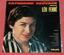 CATHERINE SAUVAGE CHANTE LEO FERRE 25 CM VOLUME 1