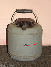 VINTAGE THERMOS GRAY OCTAGON TOP METAL PICNIC COOLER JUG