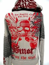 Christian Audigier Smet Juniors Platinum Gladiator Skull Hoodie shirt Hooded zip
